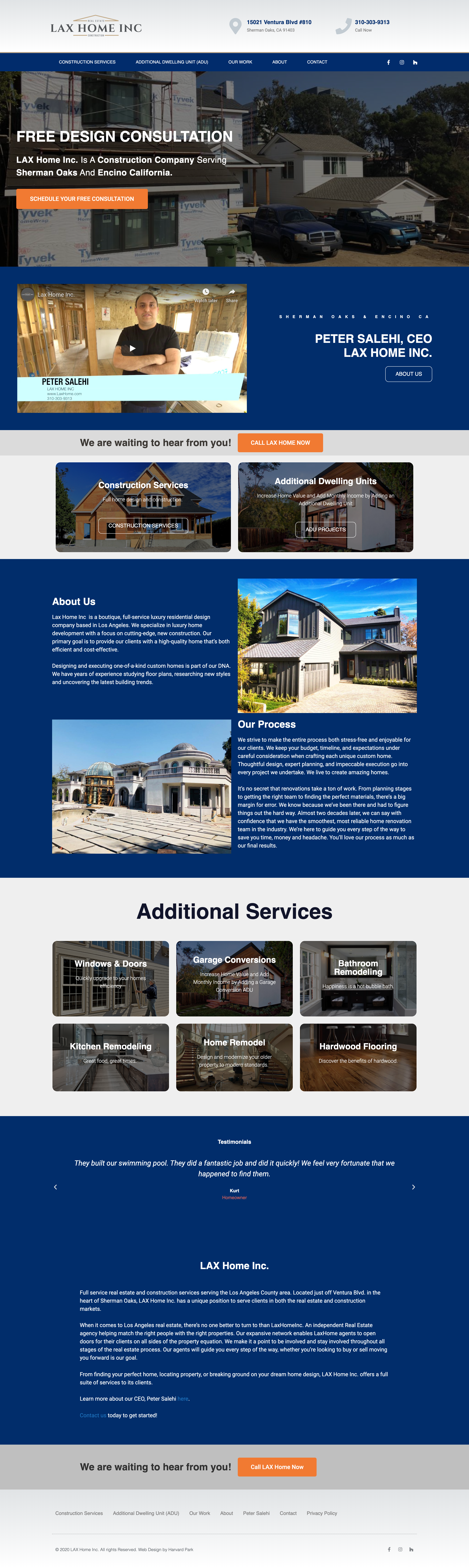 LAX Home Real Estate Website Design